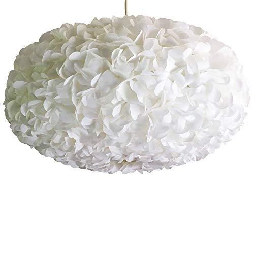 White Fluffy 2, weiße Lampe Leuchte Lampenschirm Pendelleuchte Pendellampe Hängeleuchte Hängelampe Papierleuchte Papierlampe Reispapierlampe Designerlampe Wohnzimmerlampe Schlafzimmerlampe Deckenlampe -