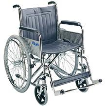 Patterson Medical - Silla de ruedas de tránsito (con reposabrazos y reposapiés extraíbles, plegable)