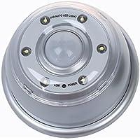 TOOGOO(R) 6 LED luz de la lampara inalambrica de detector de movimiento infrarrojo