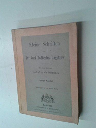 Kleine Schriften. Mit einem Anhange: Aufruf an die Deutschen von Joseph Mazzini.