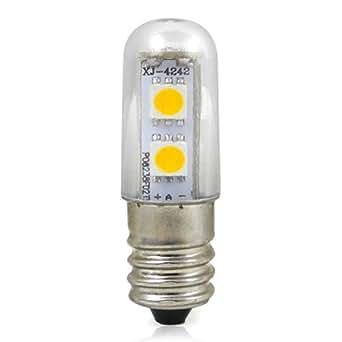 E14 1W Ampoule LED Lampe et l'ampoule (Blanc Froid 6000K - 100LM - 120 ° angle du faisceau - 220V - 7x5050 SMD LED - Ø15 x 48 mm) d'économie d'énergie de lumière