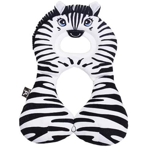 ben-bat Zebra viaggio amico poggiatesta (da 1a 4mesi, Bianco)