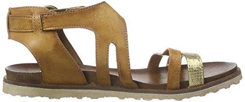 Mjus 255019-0102-0001, Sandales Bride cheville femme Marron - Braun (Camel+Caramel)