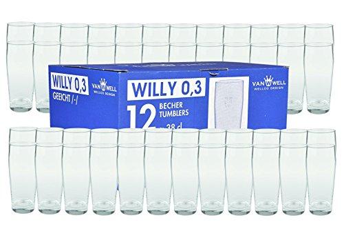 48er Set Bierglas Willibecher 0,3L mit Eichstrich