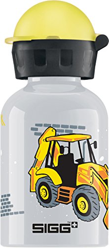Sigg Jungen Trinkflasche Construction, Grau/Bunt, 300 ml, 8490.3