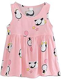 [pingüino] Vestido de verano para niñas Vestido de verano estampado precioso