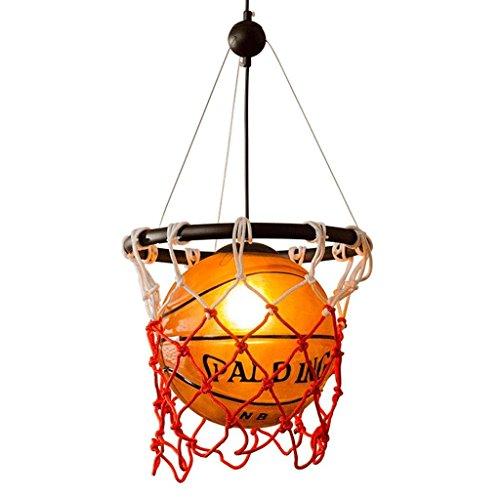 MILUCE Decke Kronleuchter, personalisierte Glas Basketball Beleuchtung Kreative Kinder Schlafzimmer Zimmer Lichter E27 Lichtquelle -