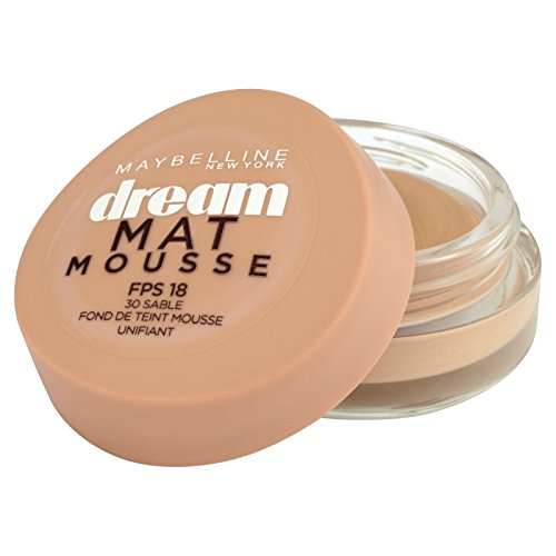 Maybelline New York Dream Mat Mousse - Fond de teint mousse - 30 sable - 18 ml