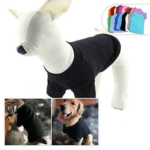 longlongpet 2019 - Disfraz de Perro, Camiseta para Perros Grandes y medianos, 100% algodón, 18 Colores