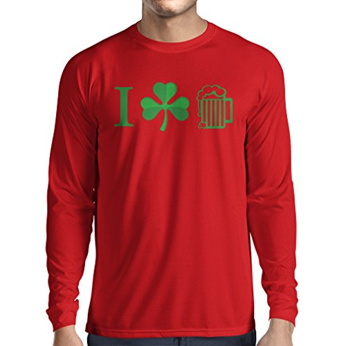 t-shirt-a-manches-longues-the-symbols-of-st-patricks-day-irish-icons-large-rouge-multicolore