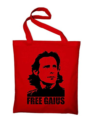 Free Gaius BSG Jutebeutel, Beutel, Stoffbeutel, Baumwolltasche, red Rot