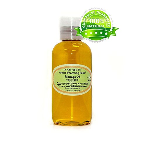 Arnica Warming Relief Massage Oil with Essential Blend Pure & Organic Skincare 4 oz