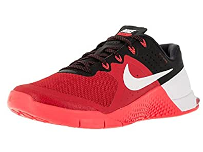 Nike Mens Metcon 2 Synthetic Trainers Umvrsty Rd/WHT/Brght Crmsn/BLC (10)