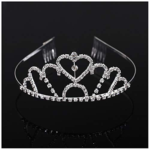 Symbol Krone Tiare Prinzessin Brautkrone Diadem Strass Herz Haarschmuck Zubehör für Hochzeit Party