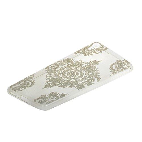 Voguecase® für Apple iPhone 7 4.7 hülle, Schutzhülle / Case / Cover / Hülle / TPU Gel Skin (Lace Blume 02) + Gratis Universal Eingabestift Transparent Teppich 02