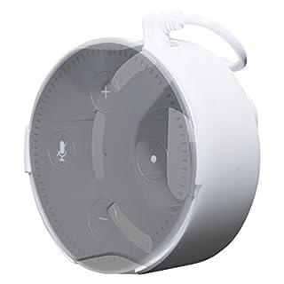 Concept Zero Halterung für Echo Dot (2. Generation) in weiß - kompatibel mit dem alten schwarzen Echo Dot Netzteil - Direkt in der Steckdose, keine Schrauben, kein kleben, inkl. USB Kabel