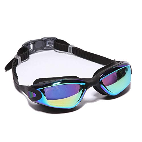 Schwimmbrille Antibeschlagbeschichtete Getönte Linse Mit 100% UV-Schutz, Auslaufsicheren Silikon-Augenmuscheln Zum Schwimmen, Großartige Schutzbrille Für Männer, Frauen Und Erwachsene Mit
