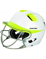 Easton Senior Natural 2Tone casco con máscara de Softball, blanco/amarillo