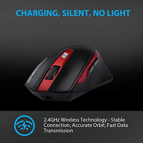 Zoom IMG-3 tedgem mouse wireless ricaricabile usb