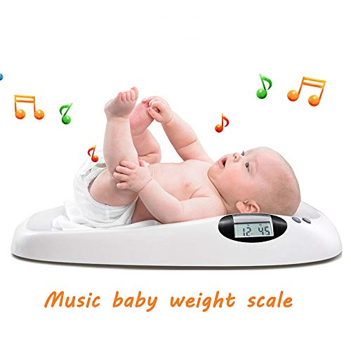 WRMING® Mit Musik Digitale Babywaage LED-Anzeige Tara Funktion