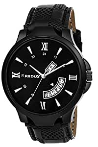 Redux Analogue Day and Date Functioning Men's Watch (Black)