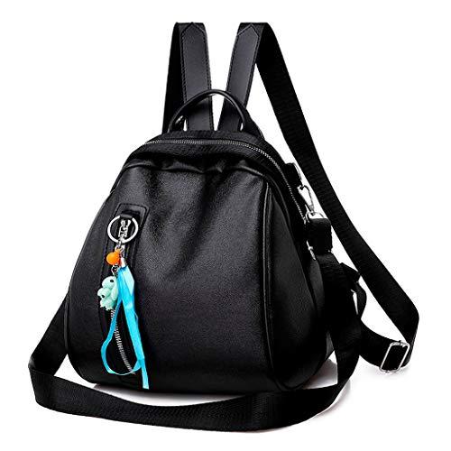 Haludock Damenmode PU Reißverschluss Dual Use Rucksack Umhängetasche Mini Farbe Handtasche