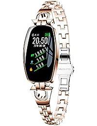 Fitness Armband Mit Pulsmesser, Muamaly Fitness Tracker Blutdruckmessung Wasserdicht Ip67 Farbbildschirm Aktivitätstracker Uhr Smartwatch Pulsuhren Schrittzähler Für Damen Herren (Rose Gold)