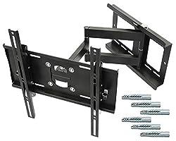 RICOO TV Wandhalterung R23-F Universal für 32-65 Zoll (ca. 81-165cm) Schwenkbar Neigbar | Fernseh Halterung Wand Halter Aufhängung Fernseher | inkl Fischer® UX10 | VESA 200x100 400x400 | Schwarz