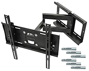"""RICOO Wandhalterung TV Schwenkbar Neigbar R23-F Fischer® UX10 Dübel Universal LCD Wandhalter Fernseher Halterung Curved Flachbildfernseher 80-165cm 32""""-65"""" Zoll/VESA 400x400"""