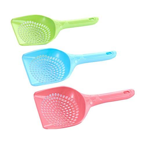 Zerama 3PCS zufällige Farbe PP Pet Kitten Wurf Sand Schaufel Scoop Größere Größe Reinigung Pick Up Werkzeug Haustier Supplies