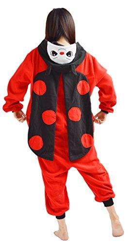 YARBAR Onesies des animaux Cosplay pyjamas unisexes adulte costume d'Halloween Combinaison Kigurumi Carnaval Coccinelle Rouge
