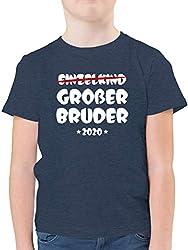Geschwisterliebe Kind - Einzelkind Großer Bruder 2020-164 (14/15 Jahre) - Dunkelblau Meliert - F130K - Kinder Tshirts und T-Shirt für Jungen