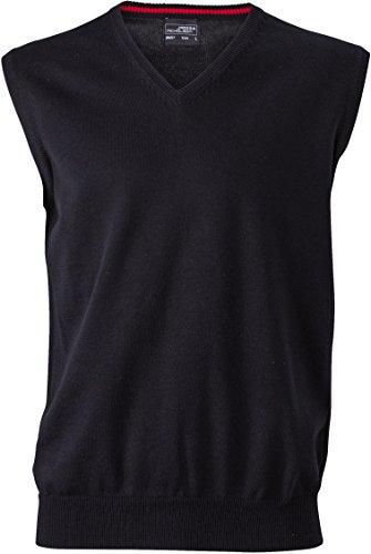 Klassischer Herren Baumwoll-Pullunder XL,Black