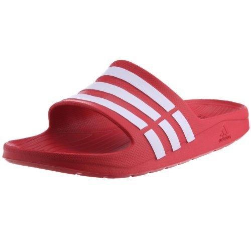 Adidas - duramo slide, ciabatte da unisex adulto, rosso(rot (collegiate red/white/collegiate red)), 46