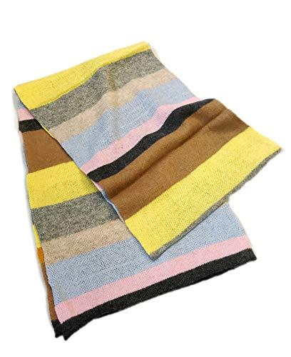Prettystern - sciarpa 100% cashmere lungo multicolore righe leggero morbido adulti bambini adolescenti - arcobaleno 9