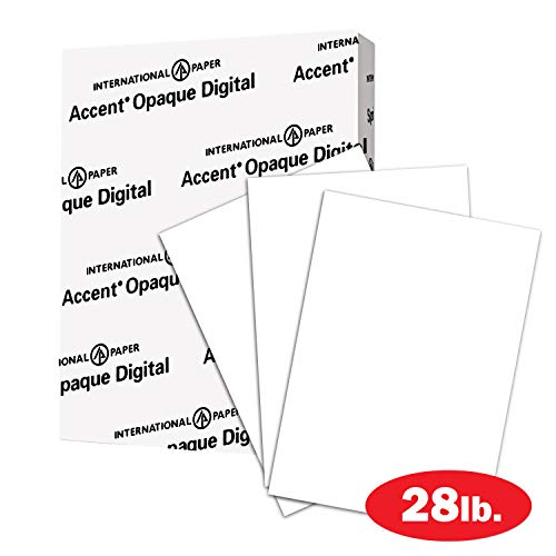 Paper Accents Cardstock (Accent Opaque Digital Inkjet mit ImageLok-Technologie, Weiß, 95-teilig, hergestellt in den USA 11 x 17 1 Pack 28lb)