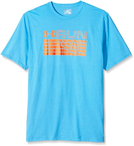 Under Armour Herren Running Kurzarm Run Track Graphic Tee, Meridian Blue, XL, 1271827 (Meridian Tee)