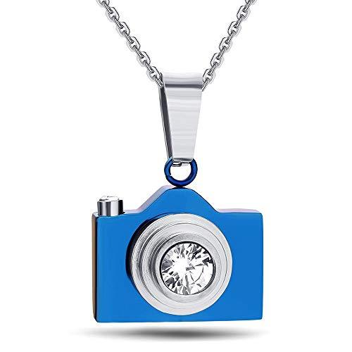 MAlex Halsketten Halskette Kette Titan Stahl Kamera Halskette Retro-Kamera Anhänger Mens Womens allgemeine Student Schmuck