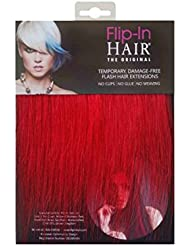 Flip-In Hair Extensions capillaires, rouge 20cm/20cm