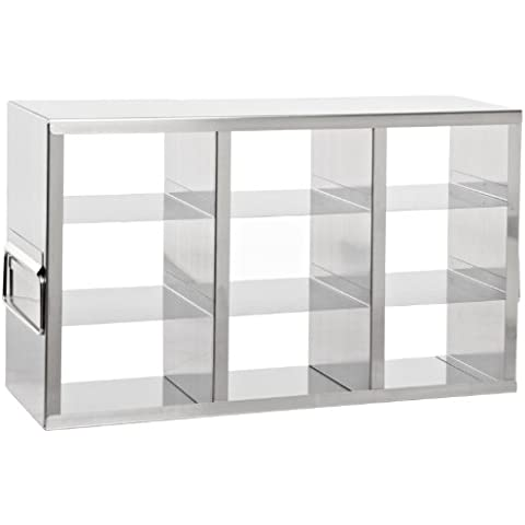 Heathrow Scientific HD2862KA - Soporte horizontal para congelador (con 9 estanterías para cajas de 75 mm de altura,