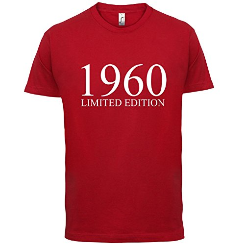 1960 Limierte Auflage / Limited Edition - 57. Geburtstag - Herren T-Shirt - 13 Farben Rot
