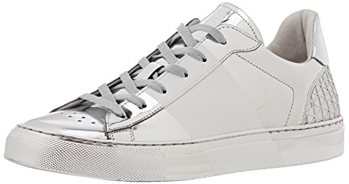 Bikkembergs Box 286 L.Shoe M Shiny S.Leather/Rubber, chaussures basses Homme Argent (Argento)
