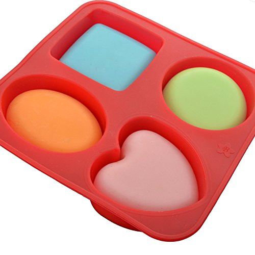 Wakehurst Backformen Muffinformen, Seifenformen - Kreis Quadrat Oval Herz Form 1pcs mit 4cav -