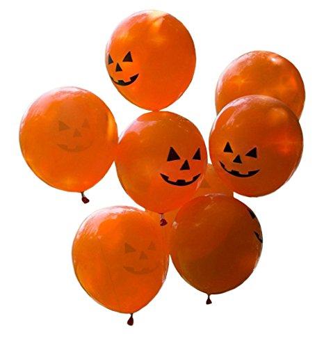 (DELEY 100 Stück Latex Luftballons Karneval Halloween-Party Versorgt Haunted House Dekoration Orange Kürbis)