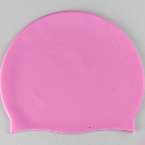 calistous Erwachsene lang kurzes Haar Swim Pool hat, rose