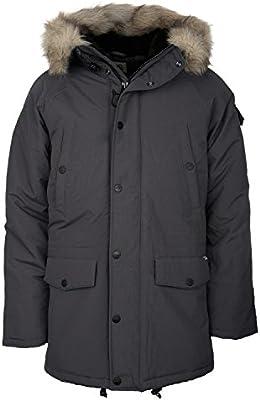 Carhartt hombres de anclaje del invierno Parka/abrigo con Eclipse/negro (gris)