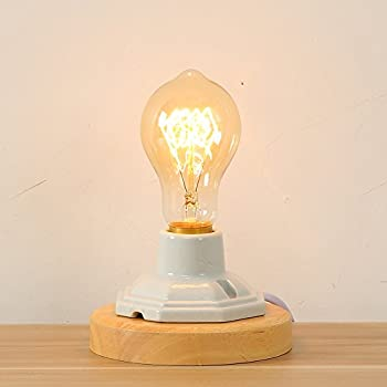 edison table lamp vintage home lighting. injuicy lighting industrial vintage e27 edison desk accent lamps retro wood led ceramics wooden base table lights bedside for bedroom living room home cafe lamp e