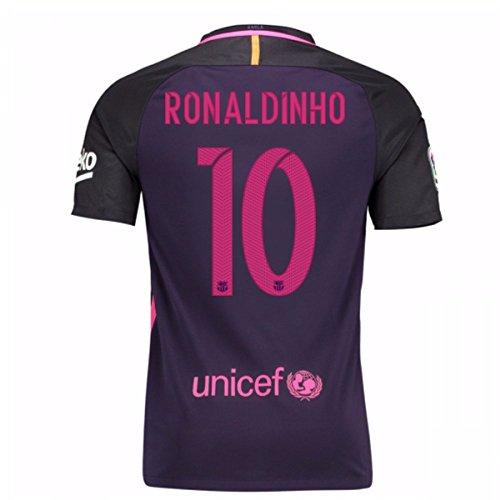 Auswärtstrikot FC Barcelona 2016/2017 - Offizielles Trikot Nike, Größe XL Ronaldinho 10