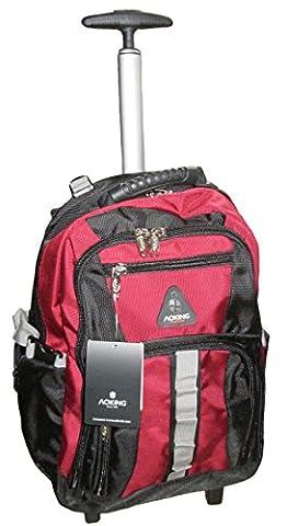 Schultrolley Rucksack Trolley Schulrucksack Ranzen verschiedene Farben (schwarz-rot)