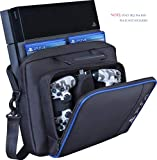 Estuche portátil para PS4, Estuche nuevo para almacenamiento de viaje, Bolso de hombro protector PlayStation Bolso para PS4 Consola PS4 Pro / Slim System y accesorios